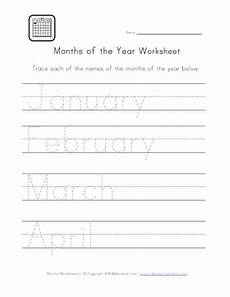 handwriting worksheets months of the year 21479 months handwriting worksheet