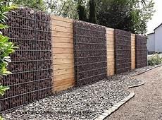 cloture en gabion cloture gabion et bois muro de gaviones ideas para