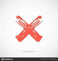 Vector Paint Brush Stroke Cross Brush Stroke X