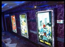 single sided indoor wall hanging crystal frame movie poster led light box in advertising lights