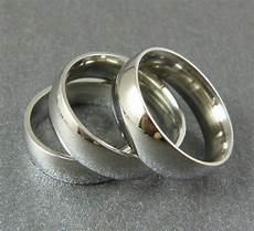 4mm high polish comfort fit stainless steel wedding band