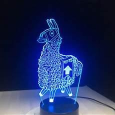 3d cartoon llama fortnite night light 7color led desk l touch room decor gift ebay