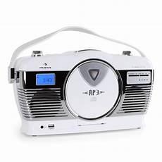 lecteur cd design auna mcp 69 poste radio vintage avec lecteur cd port usb pour mp3 utilisation sur piles