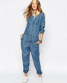 2015 womens stretch denim casual sleeve overall