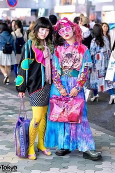 colorful vintage tokyo street fashion w dog harajuku cat print kinji handmade items