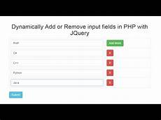 dynamically add remove input fields in php with jquery ajax webslesson