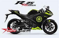 R25 Modif by Modif Striping Yamaha R25 Black Yamaha Green Motoblast