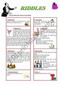 esl riddles worksheets 10892 riddles including answer key esl worksheet by phucduong87