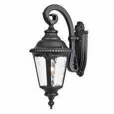 shop acclaim lighting surrey 19 5 in h matte black outdoor wall light at lowes com