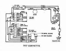 convertible tops wiring diagram of 1957 corvette circuit