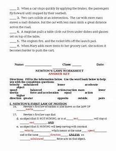 physical science motion worksheet key 13126 newton s laws of motion worksheet and review newtons laws worksheets