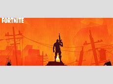 Fortnite Warrior Silhouette In Sunset, HD 4K Wallpaper