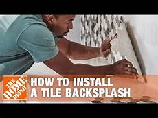 How To Tile Kitchen Backsplash How To Install A Tile Backsplash The Home Depot