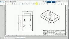 onshape tipp 2 erstellung der zeichnung eines einfachen