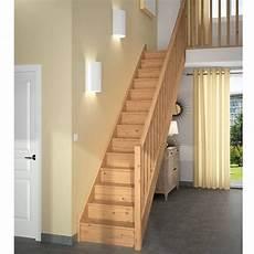 escalier bois droit escalier bois festa standard droit lapeyre escalier