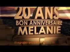 Anniversaire Melanie 20 Ans