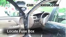 Interior Fuse Box Location 1997 2001 Lexus Es300 1998