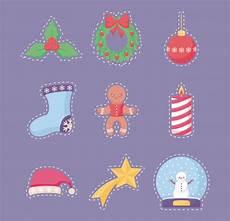 merry christmas sticker vector premium download