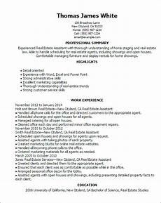 1 real estate assistant resume templates try them now myperfectresume