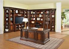 home office library furniture corsica home office l shaped library wall w 60 quot tv