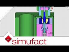 cold forming simulation segmented dies are used to form