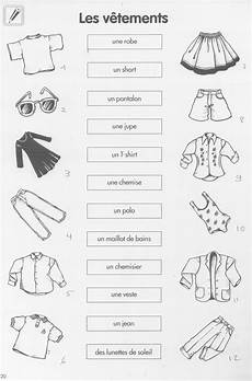 worksheets les vetements 18940 les v 234 tements exercice inspirations pro search