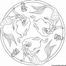 die kleine meerjungfrau mandala zum ausdrucken