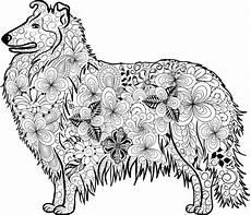 kostenloses ausmalbild hund collie die gratis mandala