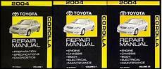 car repair manuals online free 2004 toyota corolla electronic valve timing 2004 toyota corolla 2 volume set repair shop manual original