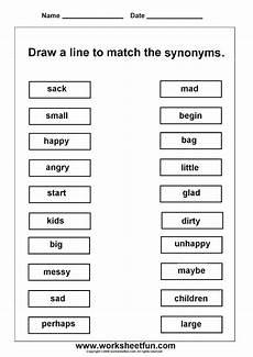worksheetfun free printable worksheets word work 2nd grade worksheets synonym worksheet