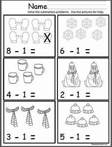 winter subtraction worksheets 20085 winter math subtract one subtraction kindergarten math subtraction subtraction activities