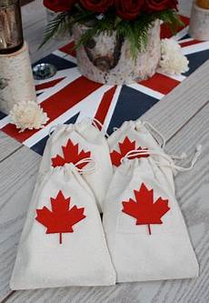 canada theme wedding favor bags wedding ideas pinterest