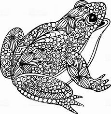 Ausmalbild Frosch Mandala Decorative Ornate Doodle Frog Illustration With Abstract