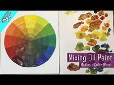 learn to mix oil paint by making a color wheel oil painting basics youtube