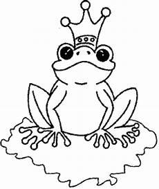 frosch mit krone 3 ausmalbild malvorlage tiere