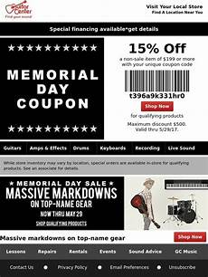 Guitar Center Your Memorial Day Coupon Has Arrived Milled