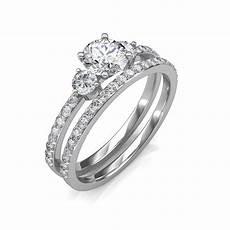 1 30 carat 18k white gold sylvia engagement ring and wedding band engagement rings at