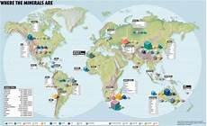 Minerals Of The World Chart Global Mineral Resources Map Where Be The Treasure