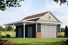house plans with detached garages detached garage plan with barn like doors and covered