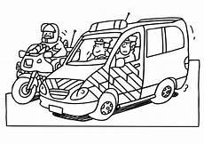 Ausmalbild Playmobil Agenten Kleurplaat Politie Jeep