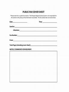 fax cover sle sheet