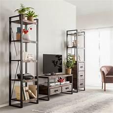 spiegel industrial look wohnwand factory mango massiv metall home24