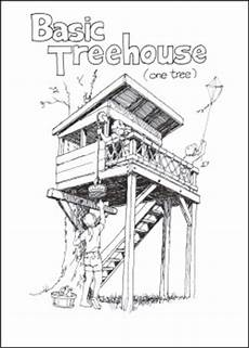 treeless tree house plans wooden treeless tree house plans pdf plans