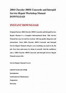 chrysler 300m service repair manual download info service manuals 2004 chrysler 300m concorde and intrepid service repair workshop manu
