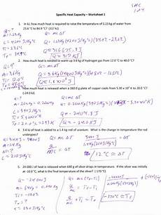 physical science specific heat worksheet 13107 specific heat capacity worksheet key branches of thermodynamics thermodynamics