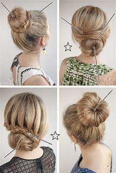 18 hochsteckfrisuren kurze haare selber machen bob