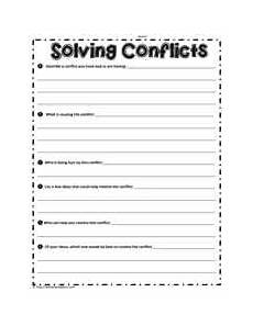 conflict resolution worksheets