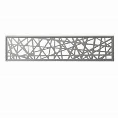 panneau decoratif aluminium panneau d 233 cor en alu idaho gris clair 177 x 42 cm castorama