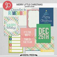 digital scrapbook elements merry little christmas cards juno