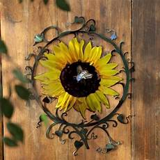 sunflower indoor outdoor light reflective wall art contemporary outdoor decor by hayneedle